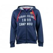 Veste Full FC Barcelone Bleu