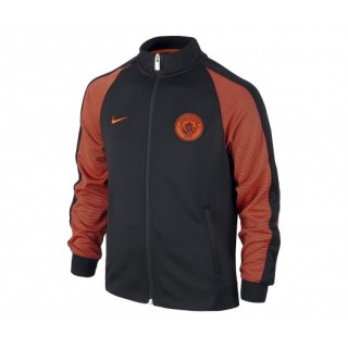 Veste Nike Authentic N98 Manchester City Noir et Orange Enfant