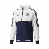 Veste Présentation adidas Olympique Lyonnais Blanc et Bleu