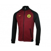 Veste Zip Nike Authentic N98 Manchester City Rouge et Noir