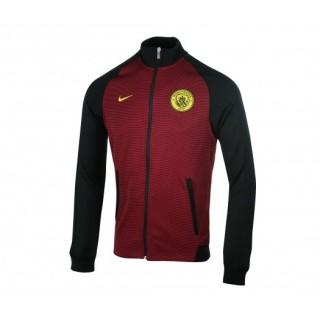 Veste Zip Nike Authentic N98 Manchester City Rouge et Noir