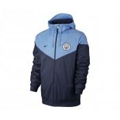 Veste à capuche Nike Manchester City Bleu