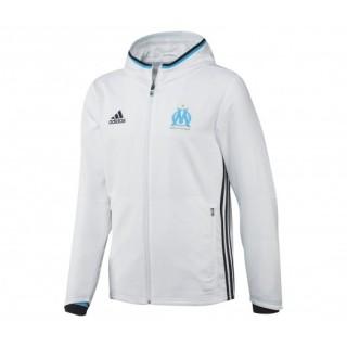 Veste à capuche adidas Olympique de Marseille Blanc Enfant