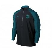 Veste entraînement Nike FC Barcelone Strike Woven Noir et Vert