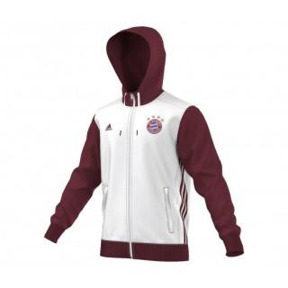 Veste zip à capuche adidas Bayern Munich Blanc et Rouge