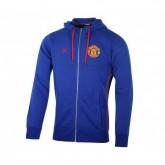 Veste zip à capuche adidas Manchester United Bleu