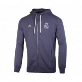 Veste zip à capuche adidas Real Madrid Bleu